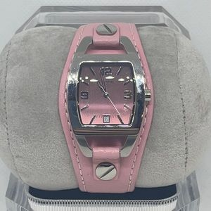 Fossil Women's Pink Leather Stainless Watch
